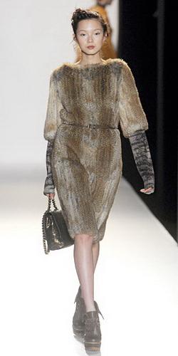 Платья с мехом