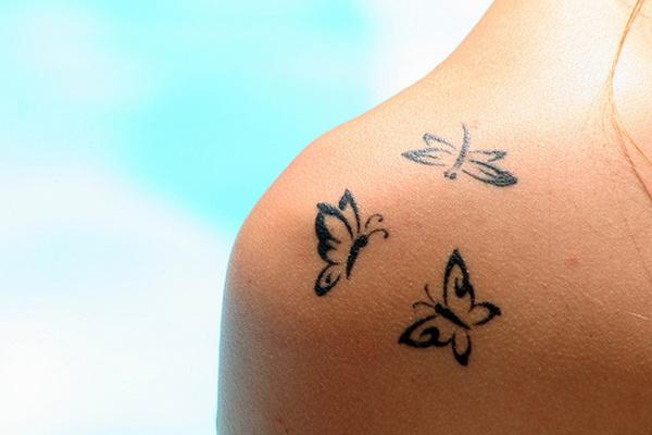 Татуировка на плече временная или