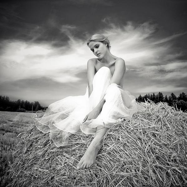 черно белые фото девушек блондинок