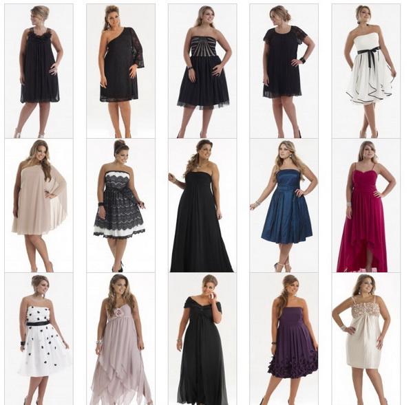 Яркие вечерние платья для полных