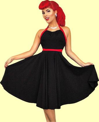 Платья в стиле ретро: 88 вариантов.