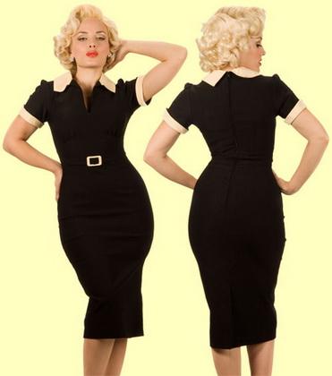 платья ретро женский стиль одежды.