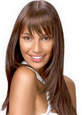 Фото на тему Прически на длинные волосы темные челка.