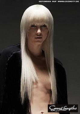 Эффект мокрых волос - прически.
