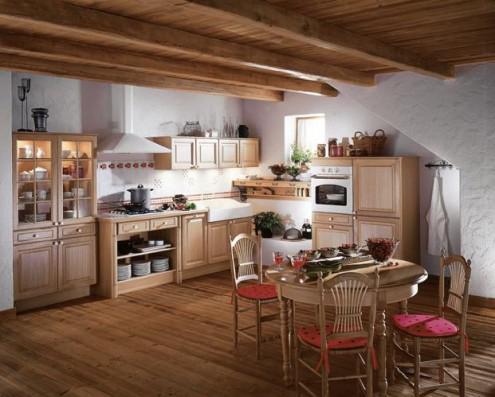 kitchen. кухня в деревенском доме.