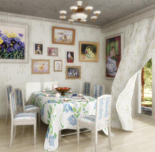 Картинка с новости: Интерьер в стиле прованс с метками дома.