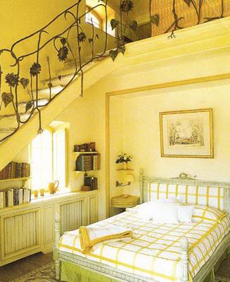 Пол в стиле прованс может быть деревянным или выложенным плиткой.