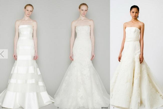 Свадебные платья Веры Вонг