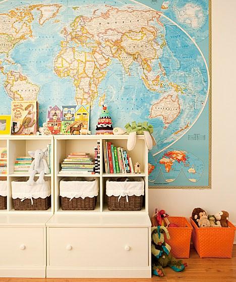 Интересное оформление детской комнаты