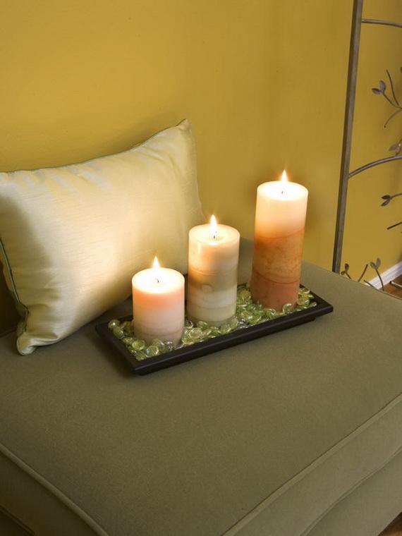 Декор интерьера свечами
