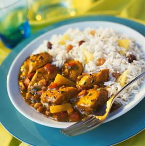 Блюдо из риса и мяса
