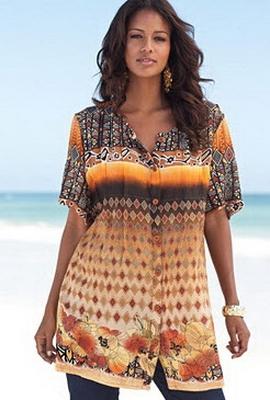 Блузки больших размеров для женщин доставка