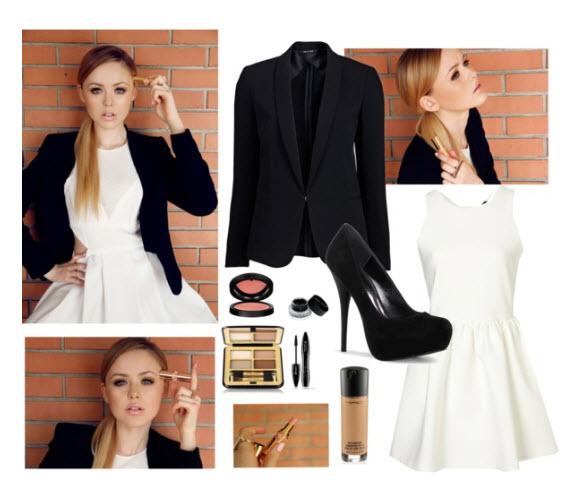 Маленьке коротке біле плаття