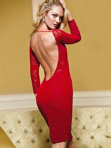 Кружевное платье с открытой спиной