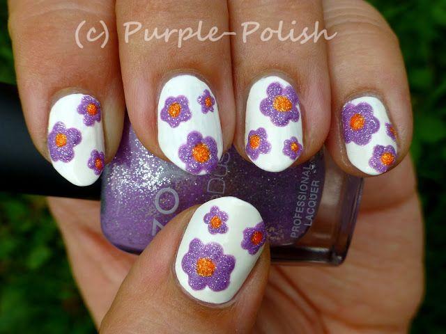 Рисунки на ногтях цветочки