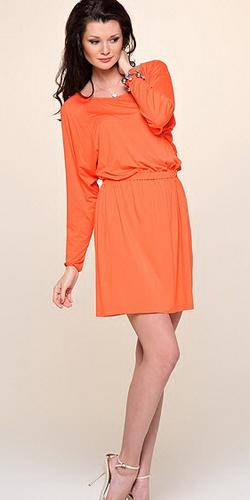 8c45eb9209b8973 Оранжевое платье - это хит! 40 Фото