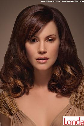 Шоколадные оттенки волос
