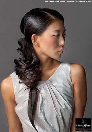 волосы на один бок