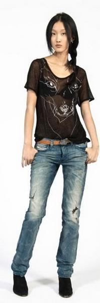 Заниженные джинсы