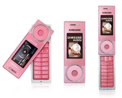 розовый телефон
