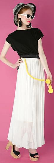Длинная белая юбка