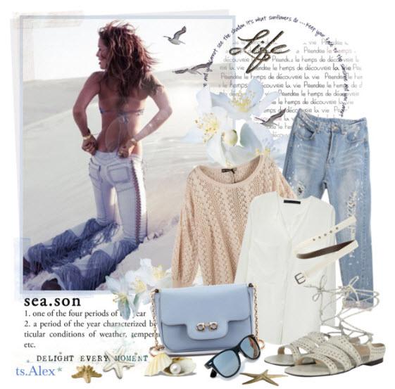 Подбирая к рваным джинсам дополнение, придерживайтесь правила: чем более яркие и рваные джинсы, чем больше на них...