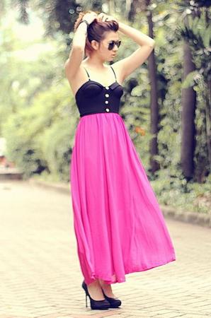 Длинные юбки из шифона