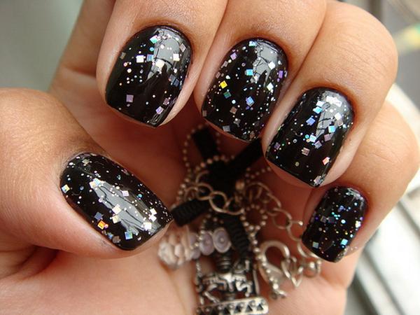 Черный лак - ногти