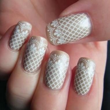 Свадебные ногти фото