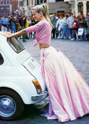 розовая юбка