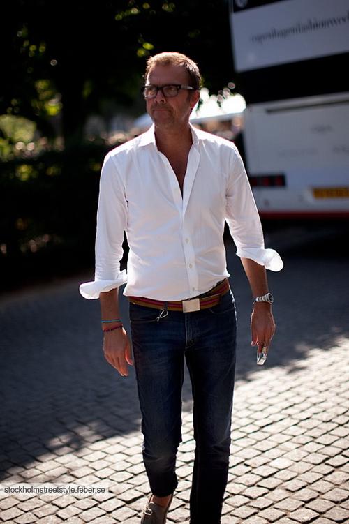 Белая рубашка мужская