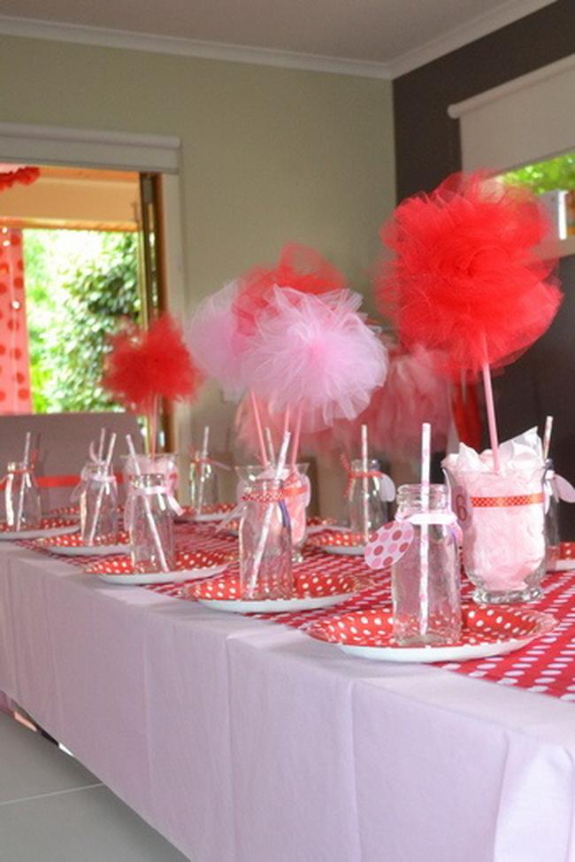 Украсить стол на день рождения