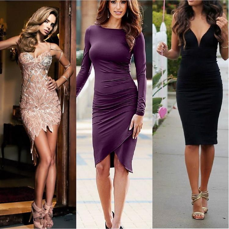 Короткие платья не в обтяжку