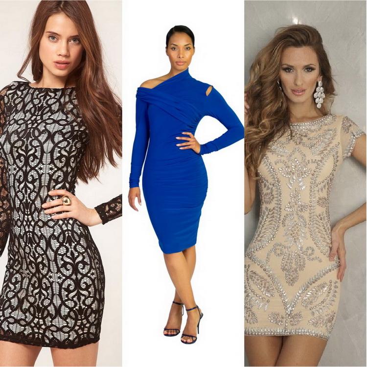 Обтягивающие прозрачные платья на девушках — photo 13