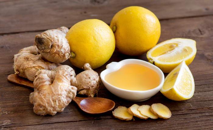 Смесь из имбиря, мёда и лимона