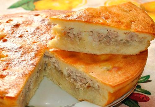 Пирог мясо с картошкой с