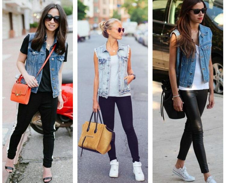 джинсовые жилетки фото
