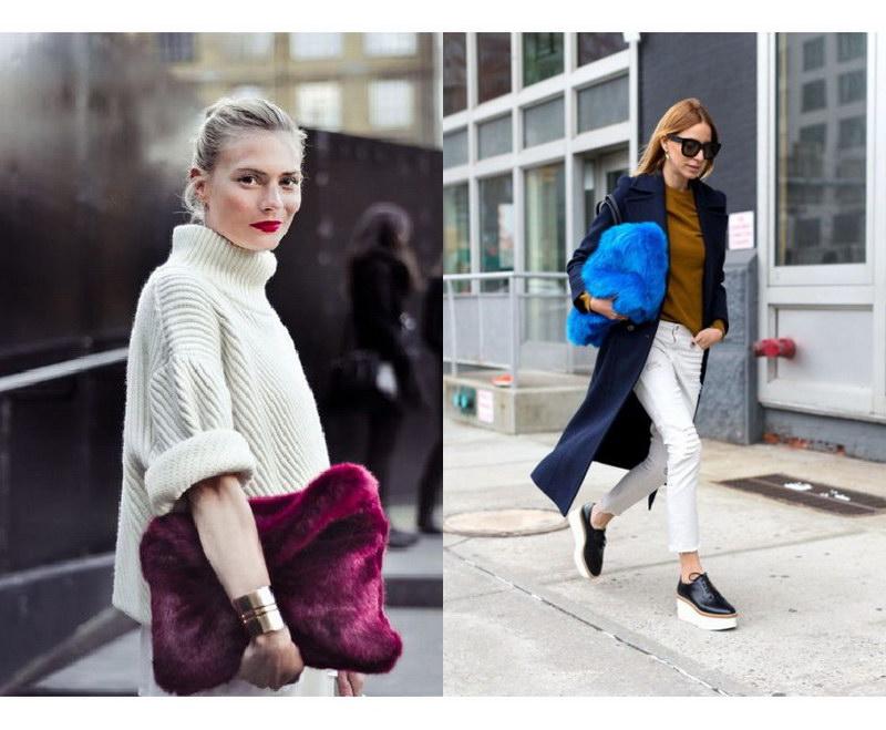 сумки и рюкзаки с мехом