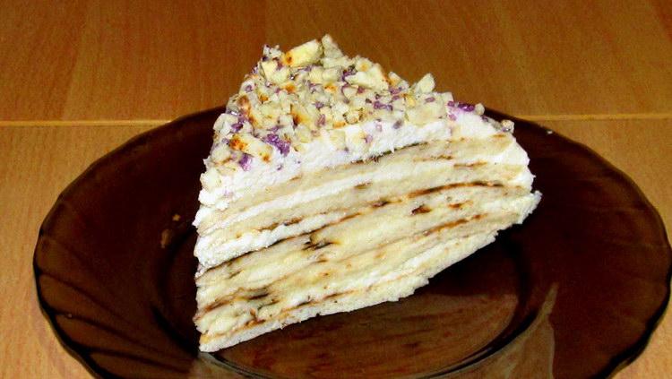 Рецепт торта творога с заварным кремом 50