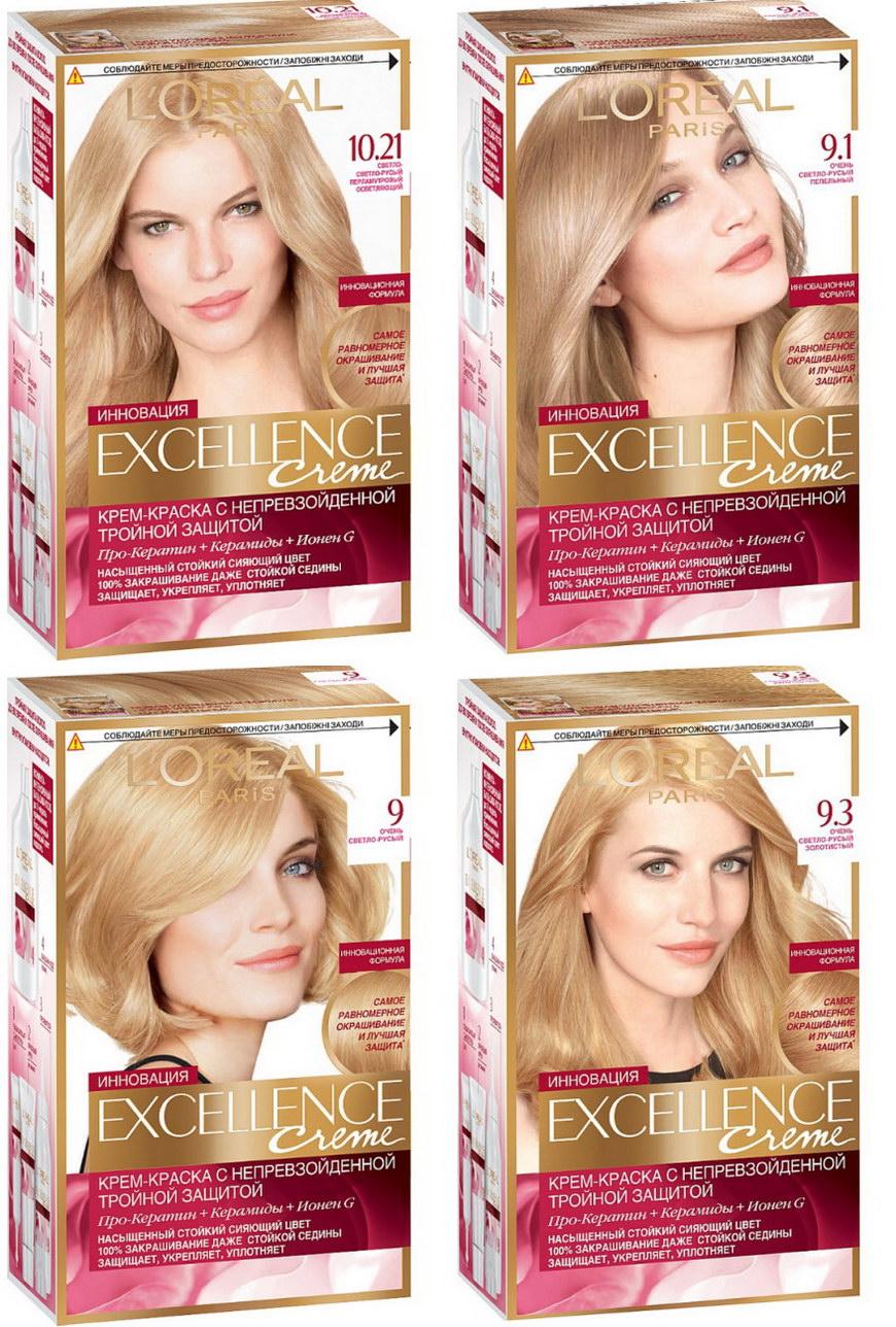 Палитра красок для волос