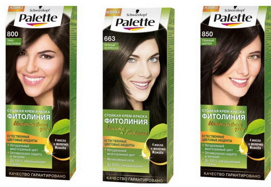 Краска для волос палет фитолиния палитра цветов фото