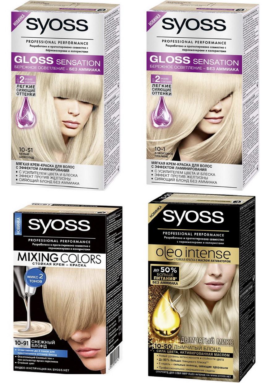 Краска для волос светлых тонов фото