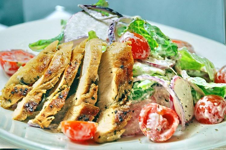 Простой салаты с куриной грудкой рецепты 5