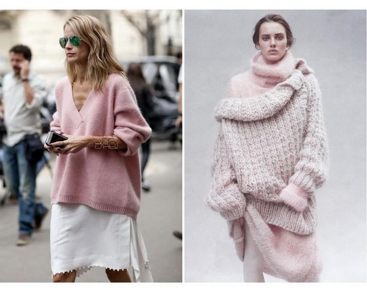 объемный свитер оверсайз