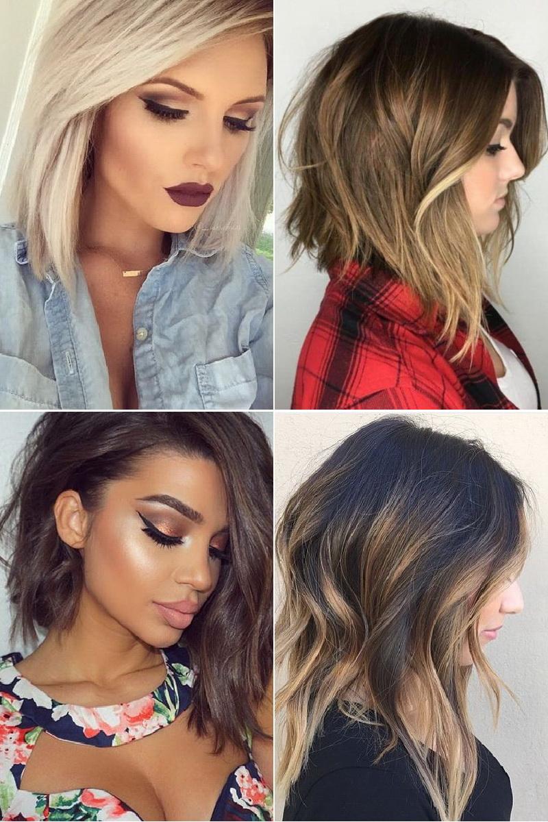 Модное окрашивание волос в 2017 году на средние волосы и стрижки