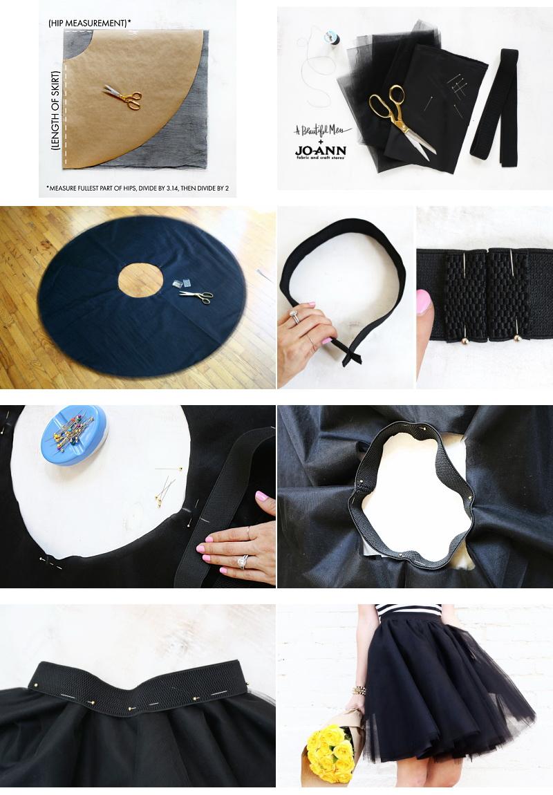 Как сшить юбку из фатин а