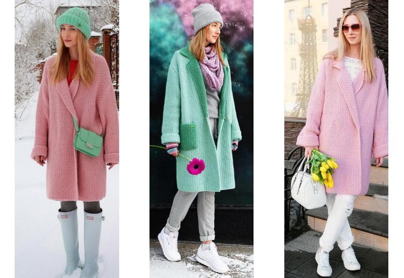 вязаное пальто достойная альтернатива на осень и весну