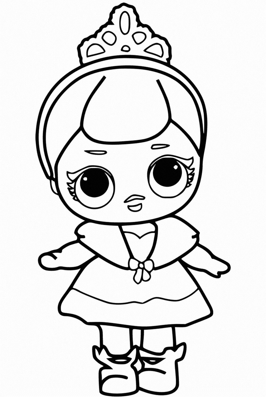Куклы Лол - 50 раскрасок, напечатать