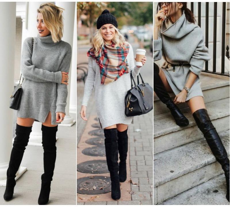 Длинный свитер - как носить