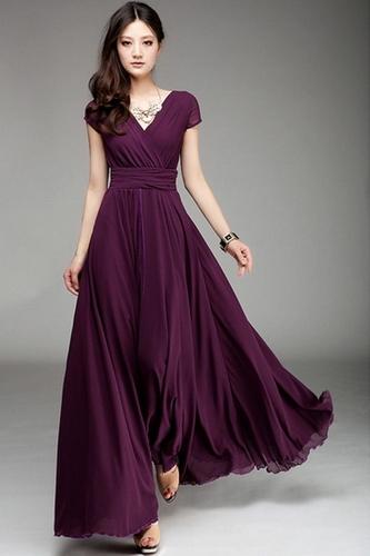 Сливовое вечернее платье